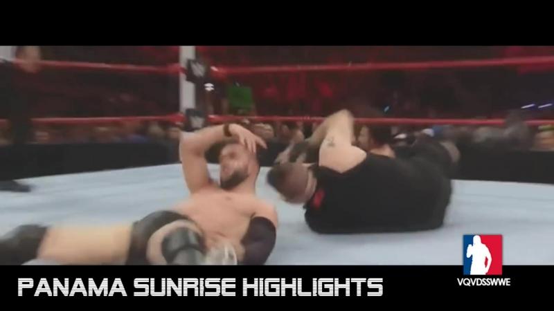 Cesaro vs. Finn Bálor vs. Rusev vs. Kevin Owens / RAW - Fatal 4-Way Match / Highlights [HD]