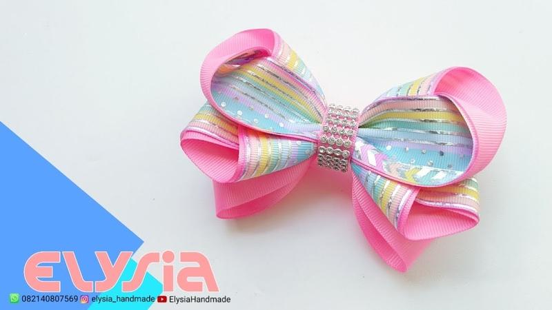 Laço Clarissa 🎀 Ribbon Bow 🎀 DIY by Elysia Handmade