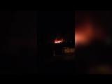 В Новосибирской области вспыхнул гаражный бокс на тысяче «квадратов»