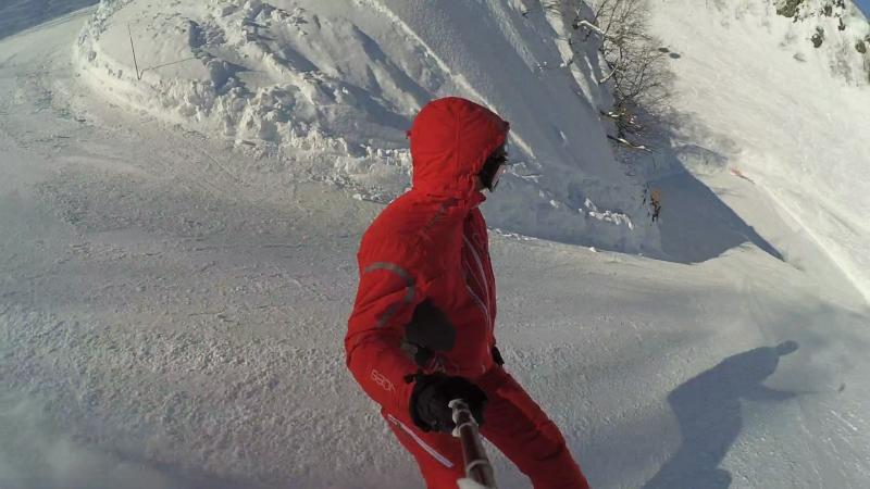 Красная поляна, Роза хутор. спуск с Роза пик (2320м) до Роза стадион (940м)
