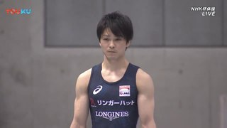 Kohei Uchimura on Vault at the 2018 NHK Cup