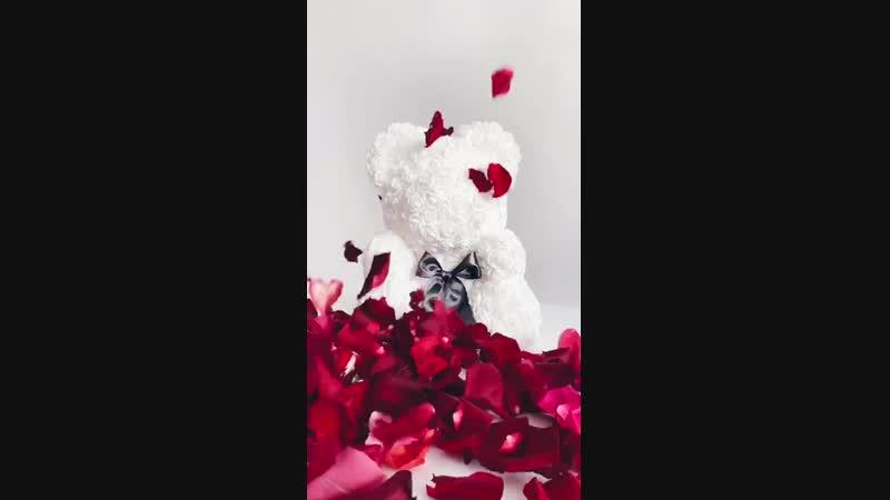 Дополнение к мишкам - лепестки роз