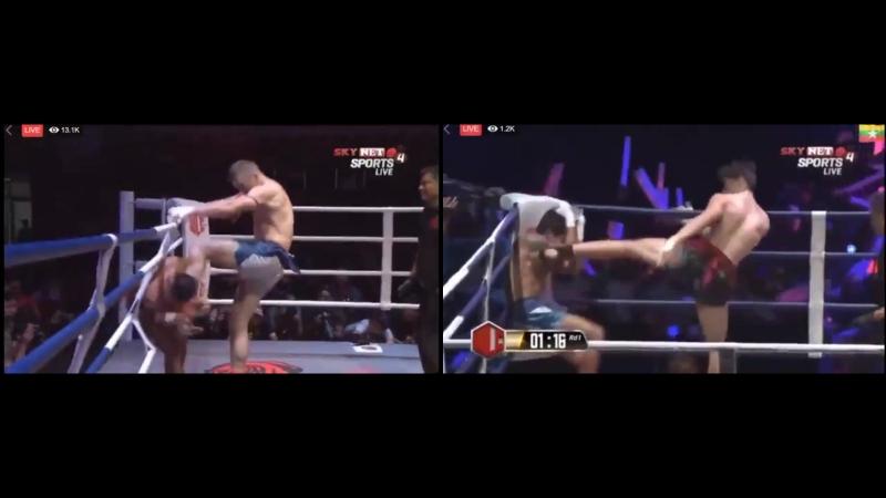 Жёсткий бирманский бокс пара фрагментов прошедшего WLC 5