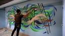 GRAFFITI ART/Граффити роспись помещения.Рисунок на стене.\Painting art/