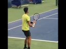 Marian joined to the rest of TeamDjokovic last night practice CincyTennis video Rhonda Nellessen