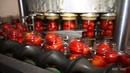 Как производятся томаты в томатном соке на Славянском консервном комбинате