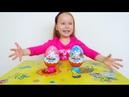 Мега Киндер Сюрпризы и Неожиданные Игрушки распаковка от Бубочки Kinder Surprise Easter Bunny