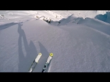 Лавина почти накрыла лыжника