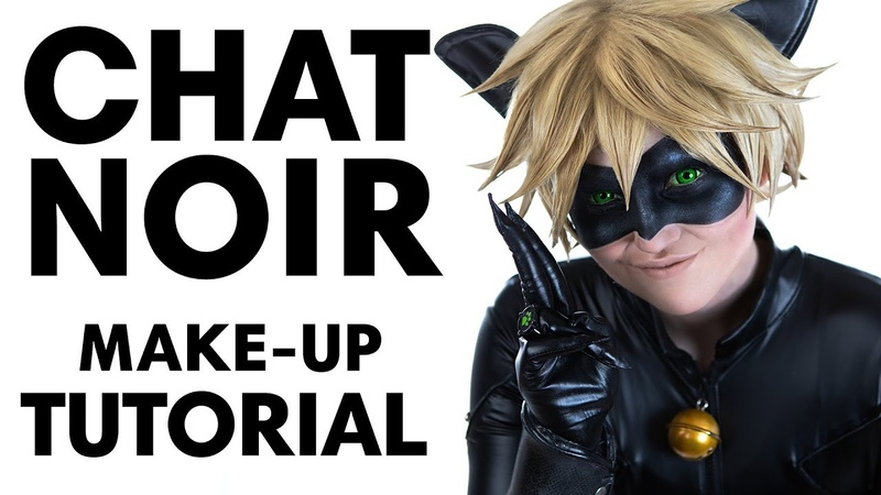 || Chat Noir || Make-Up Tutorial || How to draw on the mask ||