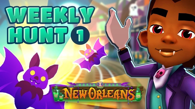 🦇 Subway Surfers Weekly Hunt - Collecting Shiny Bats in New Orleans (Week 1)