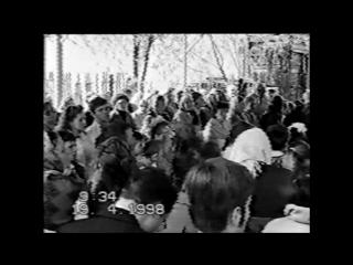 Пасха. Общее пение. Христос воскрес из мертвых. Стих Христос воскрес. 19 апреля 1998 г