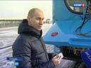 Работает автономно новый троллейбус доехал до Ростов Арены без подключения к току