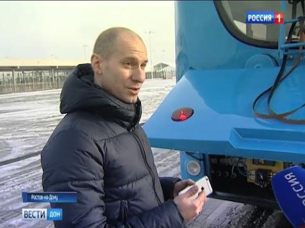 Работает автономно: новый троллейбус доехал до «Ростов Арены» без подключения к току
