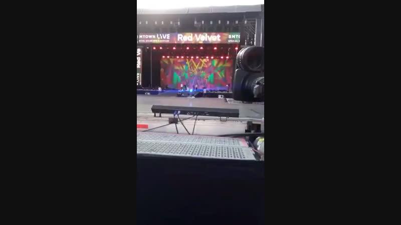 190117 Red Velvet @ SMTOWN Live World Tour VII in Santiago, Chile Rehearsals