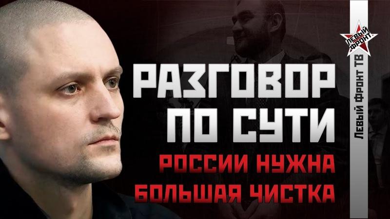 НОВОЕ Сергей Удальцов России нужна большая чистка