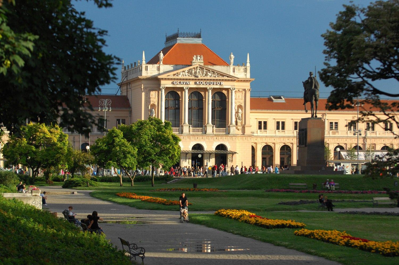Парк в центре Загреба