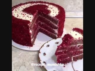 Торт «Красный бархат».