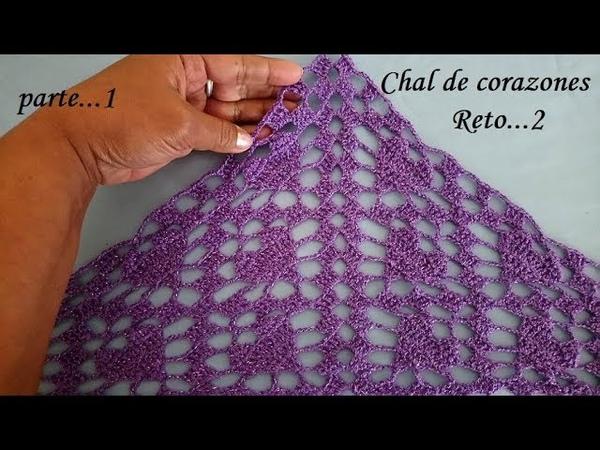 Chalina o pañoleta corazones (reto 14 de febrero)