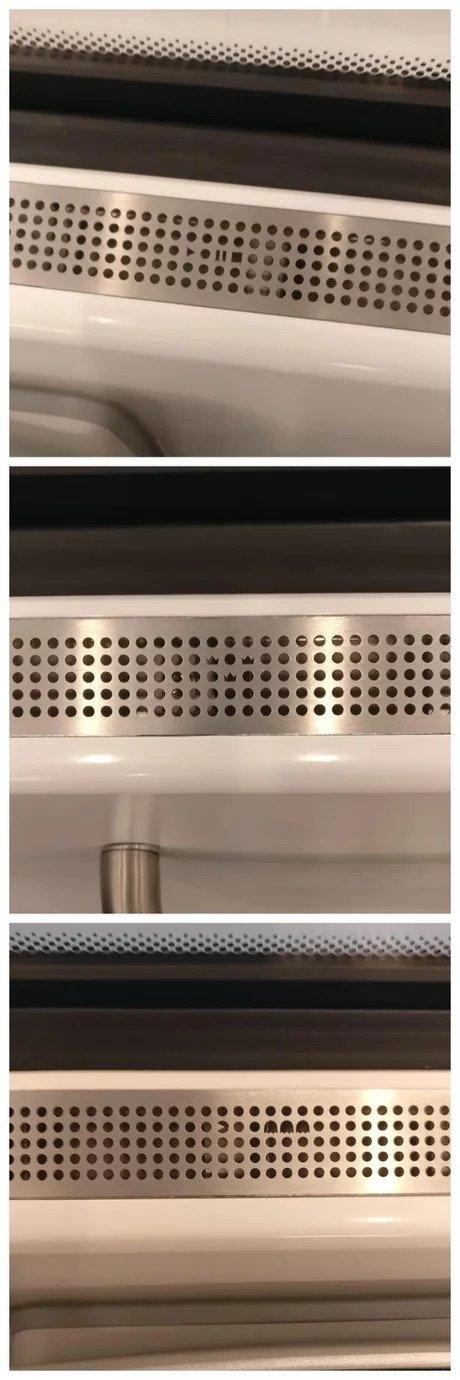 Узоры вентиляционных отверстий в новых поездах Швеции