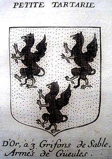 Герб Малой Тартарии эмира Мамая с тремя керченскими грифонами