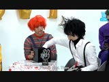 Cheol got so done with Gyu's scissor hands he even removed his wig in frustration.???