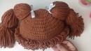 Gorro tejido a crochet cabbage patch