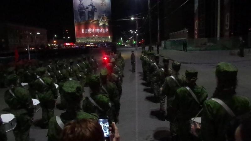 Во время вечерней репетиции парада в Ростове-на-Дону 26.04.18г