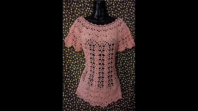 Tutorial Blusa Tipo Corte Francesa Facil y Rapido 1ra Parte Crocheteando con la Comadre