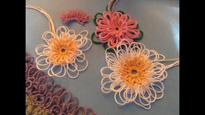 Хризантема бахрома Фриволите иглой