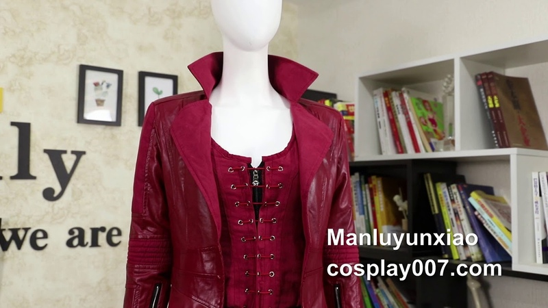 High quality Scarlet Witch Wanda Maximoff cosplay costume detail overview