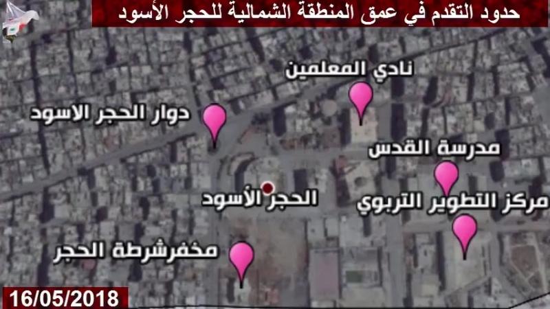Продвижение Лива аль Кудс в лагере Ярмук