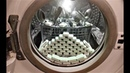 Experiment - 100 Dishwasher Tablets - in a Washing Machine - deep cleaning