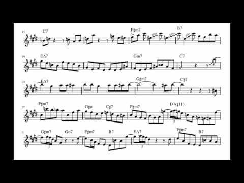 Phil Woods Solo on Out of Nowhere (Alto Sax Transcription)