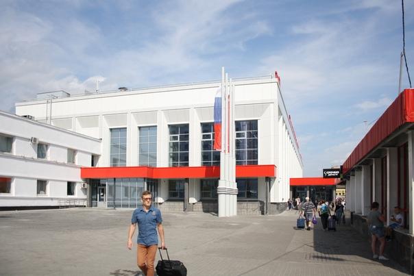 Отремонтированные фасад вокзала.  21 августа 2018