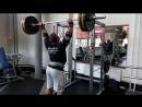 Жим стоя 145 кг на 5 повторений
