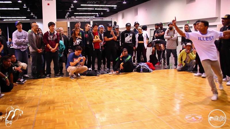 Swift Kid vs Fresh Prince Morris Breaking Semi s Urban Street Jam 2015 SXSTV