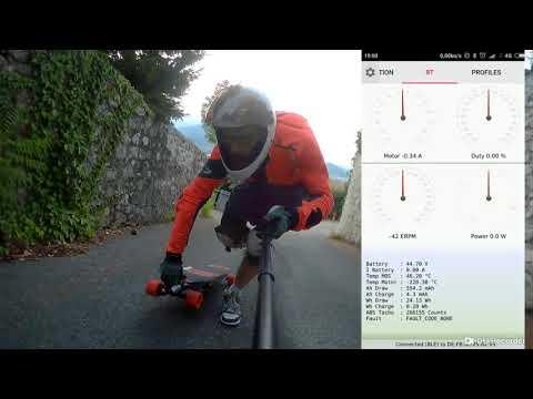 Climbing test of FSESC 6 6 base on vesc6 30 kmH Uphill 101520