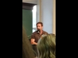 David Duchovny miss subways book signing in Barnes and nobles union Square NYC 2018 part 1 (2)