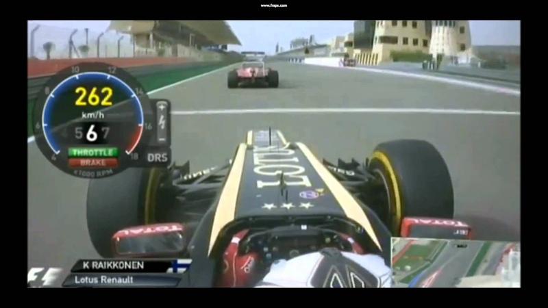 Kimi Raikkonen's overtakes at Bahrain