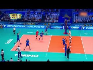 Куркаев. RUSSIA vs USA FIVB Mens World Championship 2018