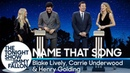 Name That Song Challenge with Blake Lively, Carrie Underwood and Henry Golding
