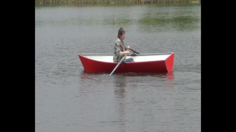 гребная картоп лодка из композитного алюминия