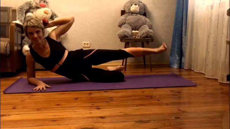 Фитнес дома. 5 упражнений для внешней поверхности бедра.