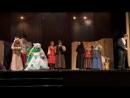 Финал спектакля «За двумя зайцами». Областной фестиваль театров и театральных коллективов.