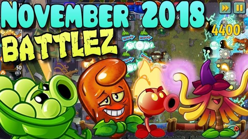 Plants vs. Zombies 2 - BATTLEZ November 2018 - Food Fight BATTLEZ (Ep.399)