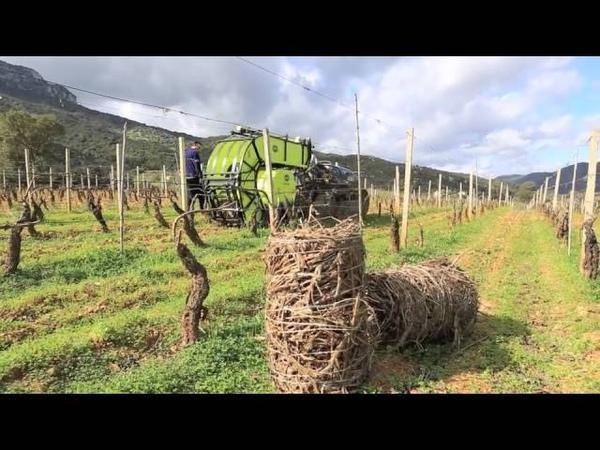 Imballatrice Sarmenti - recupero potature vigna, frutteto, oliveto. Cavalliecavalli Srl Sardegna