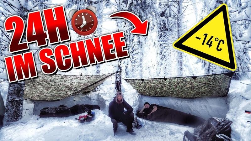 24H BIWAK im Schnee mit neuer Ausrüstung - Biwaksack Defense 6 - Overnighter Übernachtung