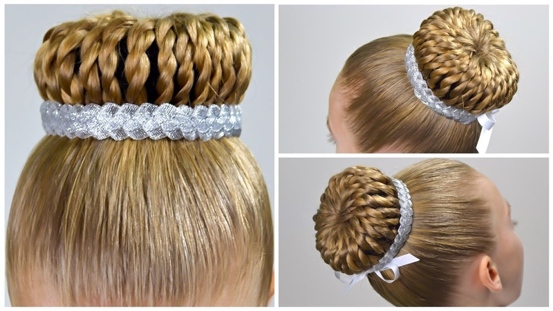 New Year's Eve Hair Style✨Perfect Braided Bun with Hair Donut✨Amazing Easy Hairstyles for Girls 19