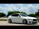 2015 Infiniti Q50 bagged Ferrada FR1 Machine Silver Chrome Lip Perfect Stance