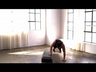 Athletic Cardio Fat Burning HIIT Workout with Step Bench